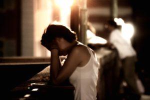 Broken and Crying at an old splintered altar