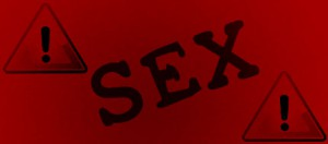 Red Warning Label for Sex Post